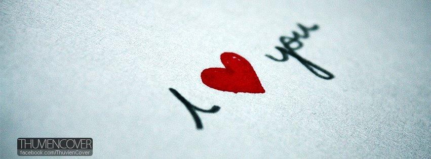 Ảnh bìa Facebook tình yêu I LOVE YOU