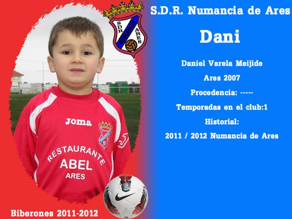 A. D. R. Numancia de Ares. Biberones 2011-2012. Dani