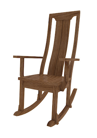 Xenium Rocking Chair in Lexington Oak