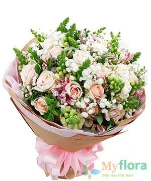 Bó hoa tươi Ngày chung đôi