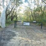 Locked gate on western end of  Perimeter Trail (307835)