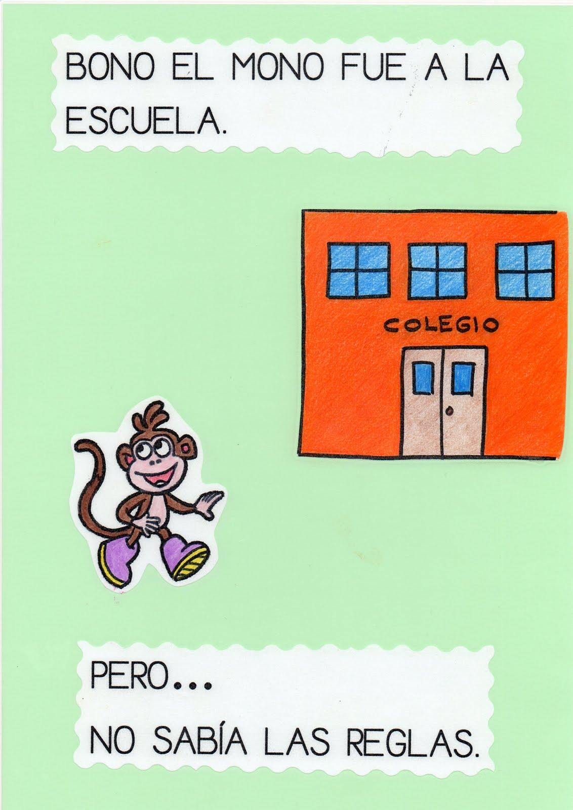 Maestra de Infantil: Bono, el mono en la escuela. Cuento para ...