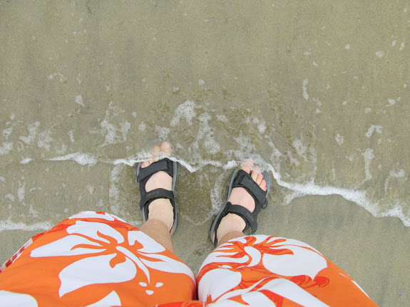 My feet in the Pacific Ocean