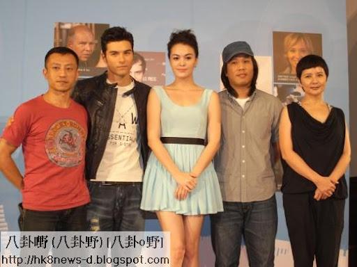 導演楊雅喆(左起)、鳳小嶽、張榕容、導演張榮吉和李烈出席記者會。(圖/公關照)