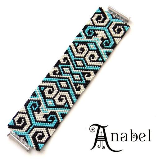 браслет из делики из бисера купить украшения ручной работы Anabel