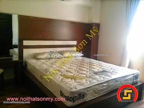 Mẫu giường ngủ gỗ ghep