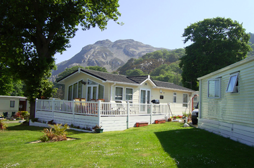 Camping  at Pendyffryn Hall Caravan Park