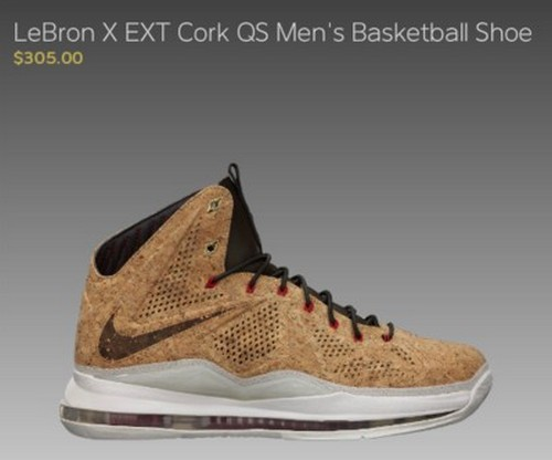 You Can Already Get LeBron X Cork Only If You8217re a Nike Athlete