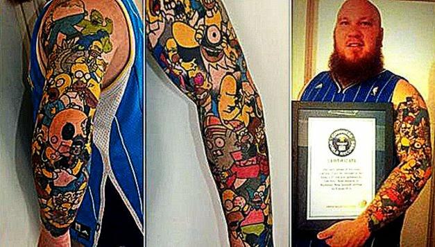 41 Homer Simpson tattoos New Zealander sets world record — RT News
