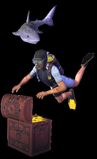Tesoro tiburón submarinista AELI