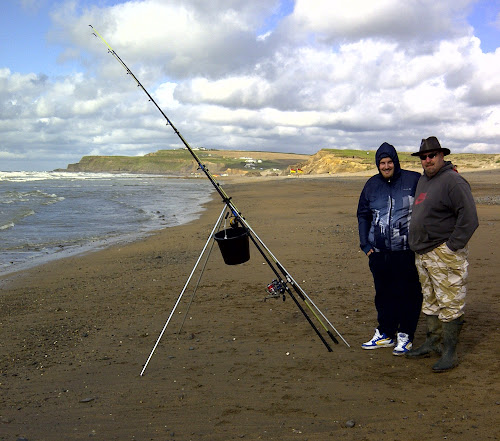 Fishing in Widemouth Bay