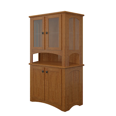 Haiku Corner Cabinet in Como Maple