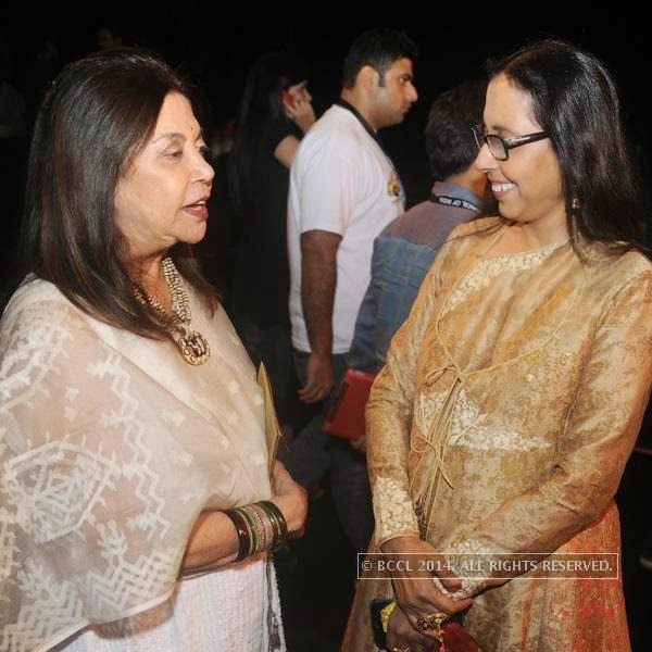 Ritu Kumar with Anju Modi during the latter's fashion show, held in New Delhi.