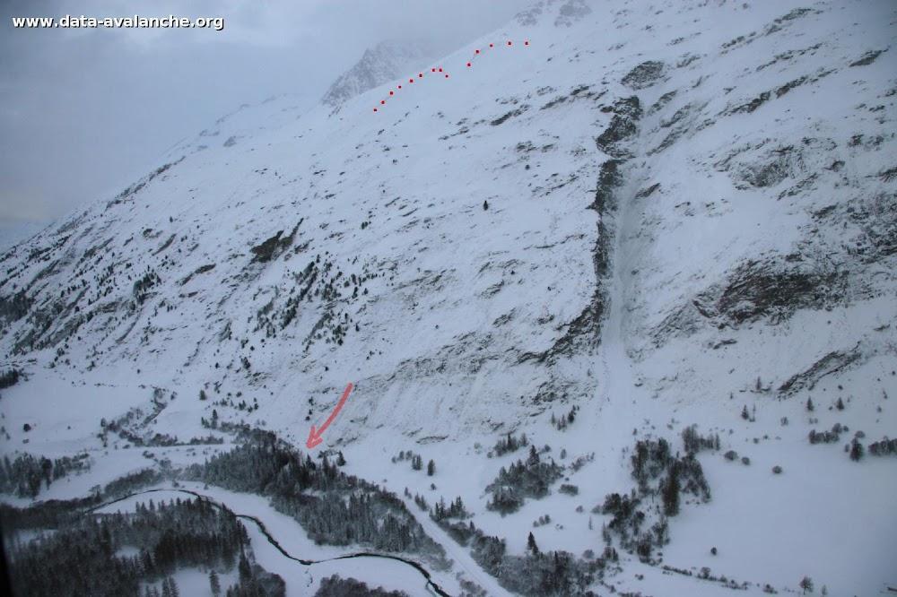 """Avalanche Haute Maurienne, secteur Col de la Madeleine, """"Praz Rot"""" ou """"Les Grisonnières"""". RD 902 - Photo 1"""