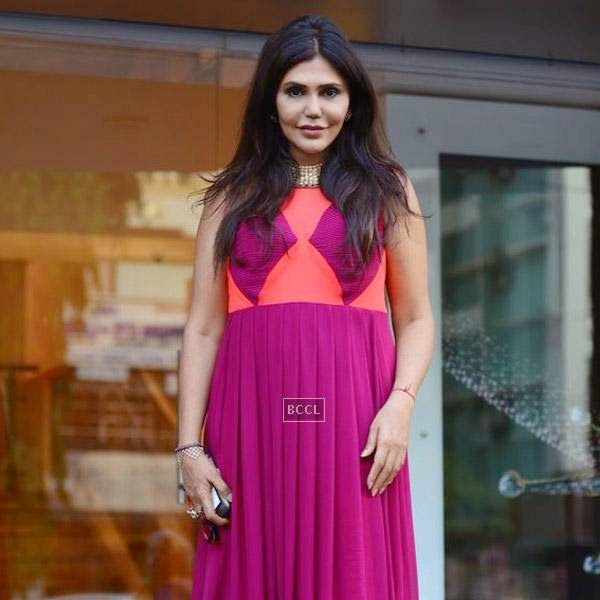 Nisha Jamwal poses for the lens during a high tea party organised at Zoya on July 24, 2014.(Pic: Viral Bhayani)
