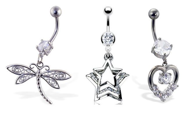 Diamond Belly Rings