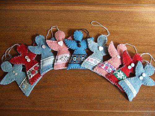 Рождественские ангелы своими руками из ткани