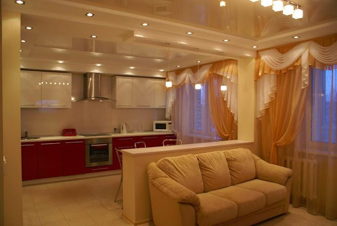 дизайн интерьера кухни гостиной фото3