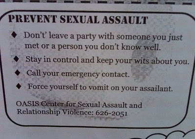 vomit if being sexually assaulted