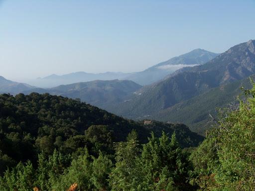 La région de Castiglione depuis la chapelle San Salvador