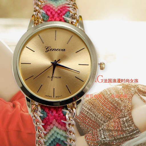 Arrival Women Fashion Watches Handmade Rope Bracelet Wr