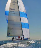 J/160 sailing under spinnaker on Cabo San Lucas Race
