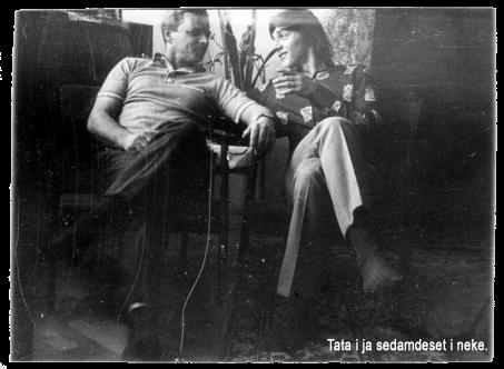 Tata Mirko i sin Ivica Smolec sedamdeset i neke