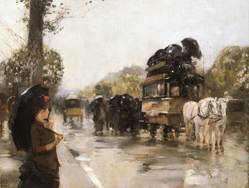 Childe Hassam - April Showers, Champs Elysees Paris