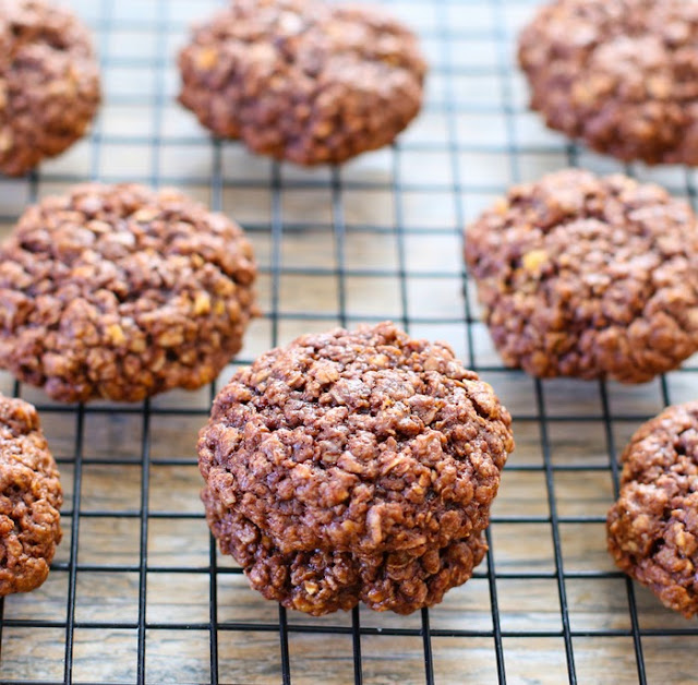 photo of flourless nutella cookies on a baking rack
