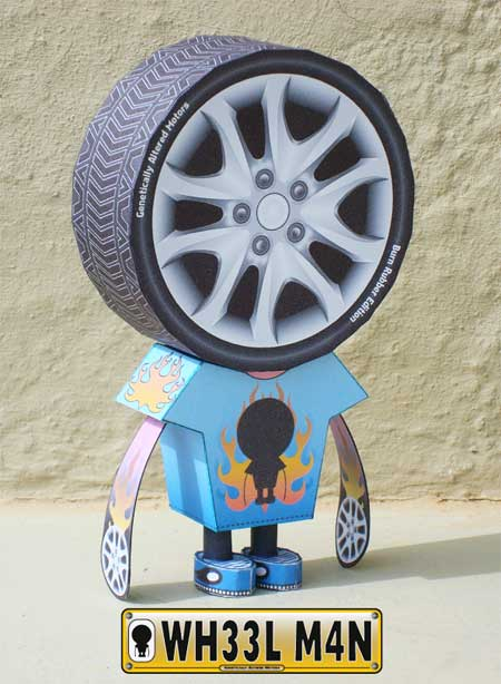 Wheelman Paper Toy