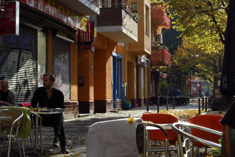 Cafe V's sidewalk