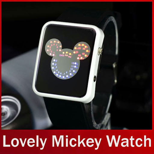Lovely Kids LED Mickey Mouse Watch Silicone Band Cartoo