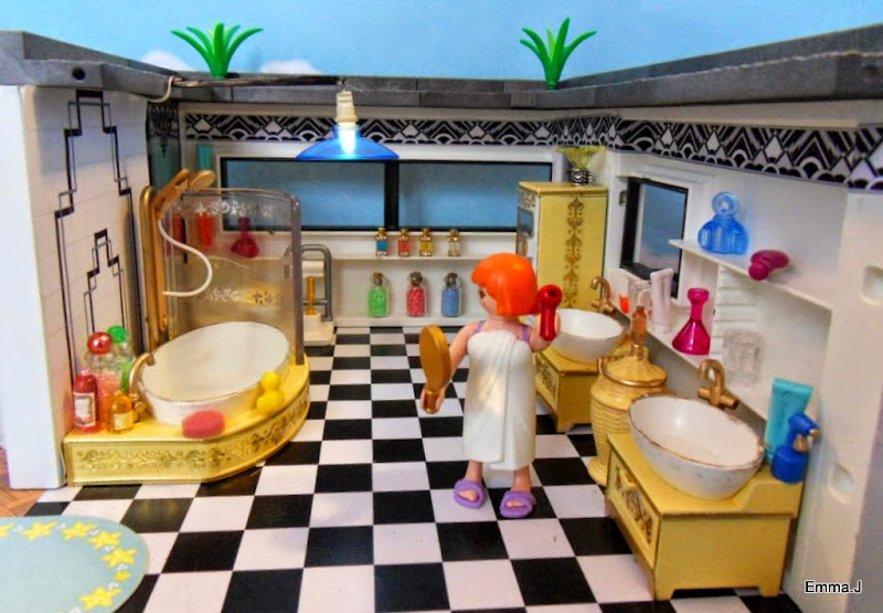 Art deco house 5574 emma j 39 s playmobil for Playmobil haus schlafzimmer