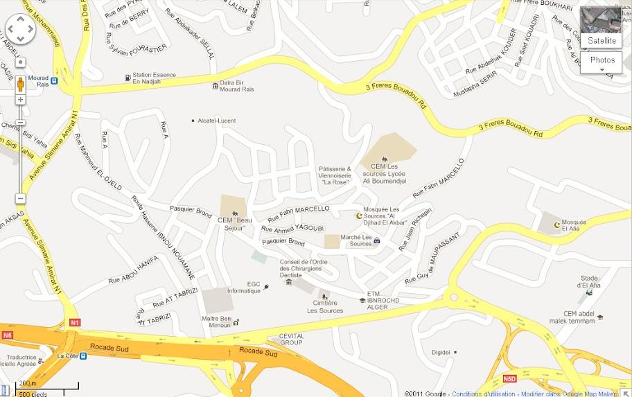 Mapping Algiers - Cartographie de la région d'Alger. رسم خريطة العاصمة BMR