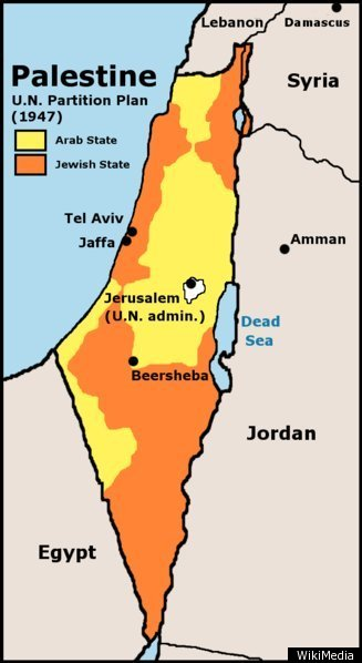 Map of Palestine Israel 1947
