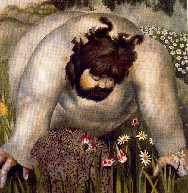 Stanley Spencer - Christ in the Wilderness - Consider the lilies