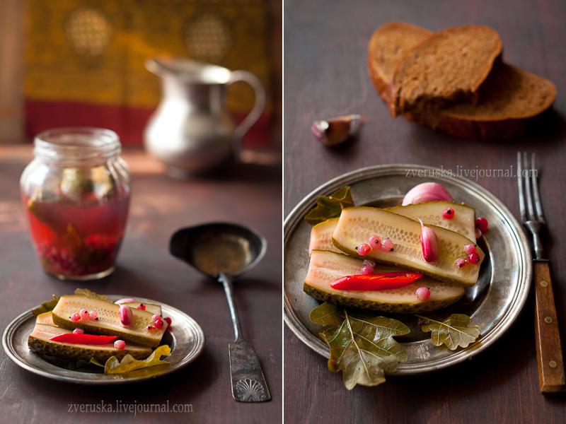 Рецепт на бегу: маринованные огурцы с красной смородиной