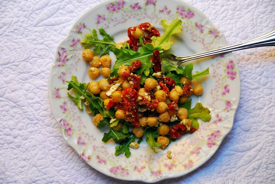 Chickpea, Sundried Tomato and Feta Salad