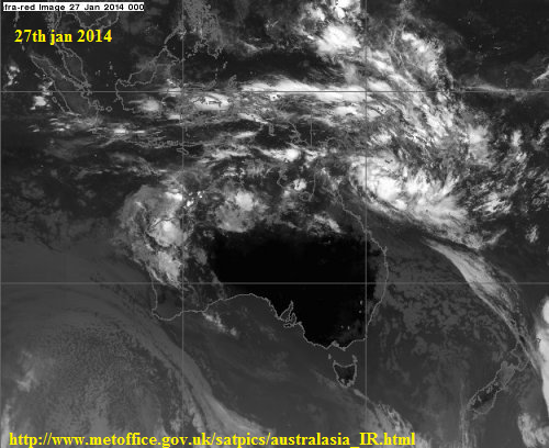 27th jan 2014 coral sea low