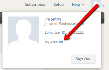 Zoho CRM - My Account