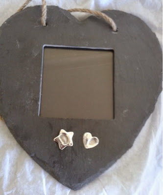 Maria Made It  Heart Frame with Silver Fingerprints