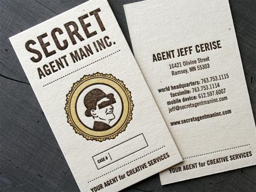 secret agent business Card