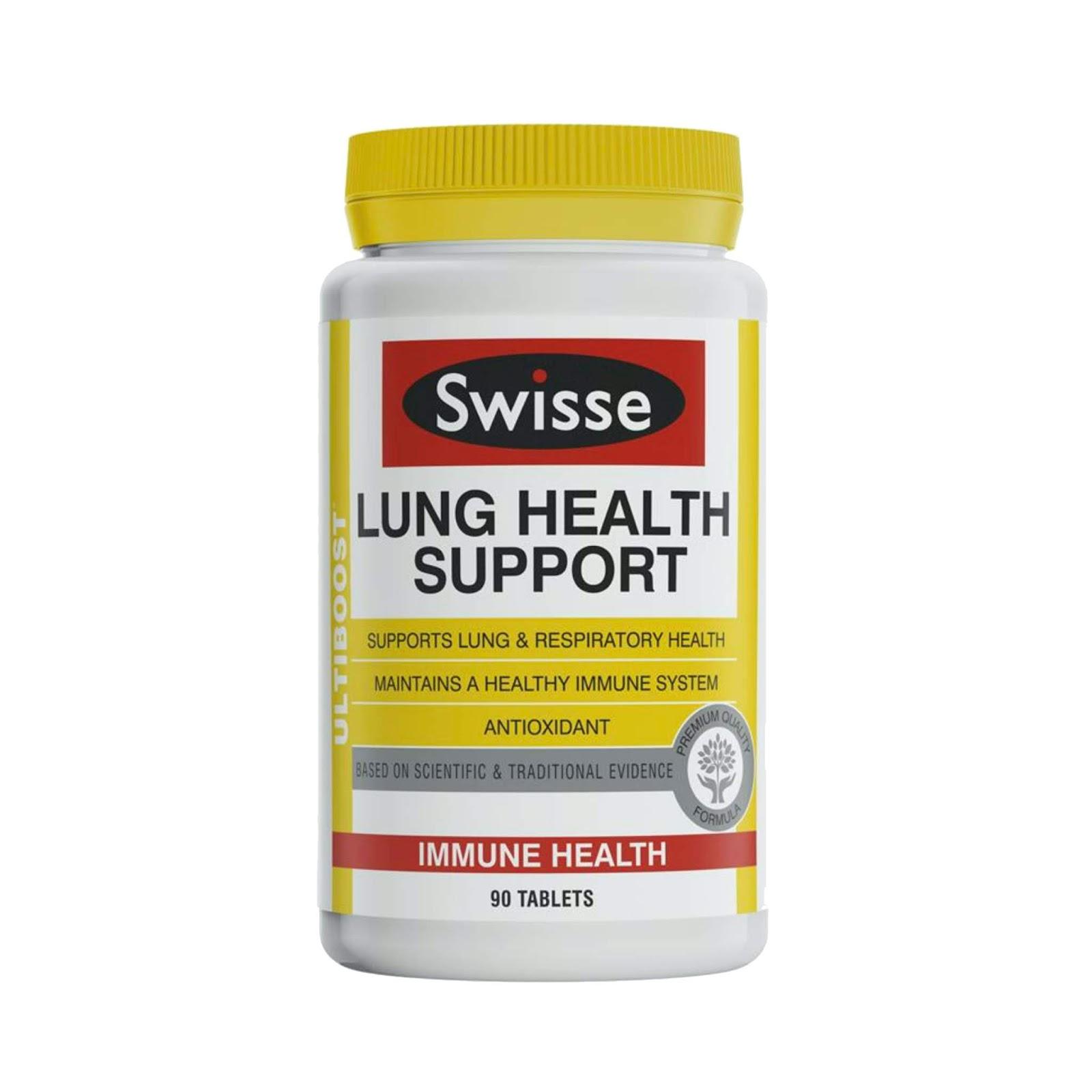 Hộp 90 Viên uống bổ phổi Swisse Ultiboost Lung Health Support