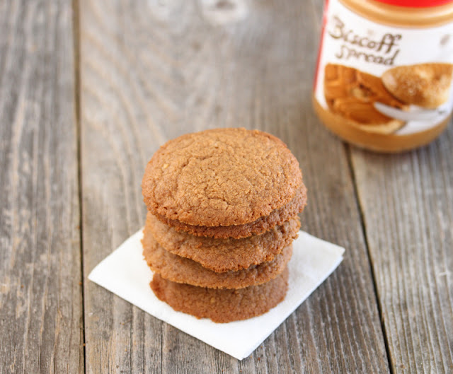 a stack of biscoff spread cookies