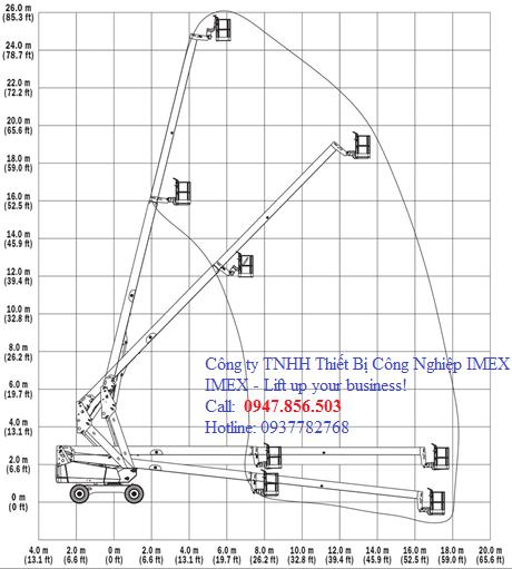 Xe nâng người tự hành JLG 24.50m