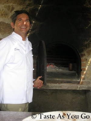 Chef Silva Gets Ready to Close Wood-Burning Oven at Los Tamarindos in Los Cabos, Mexico - Photo by Taste As You Go