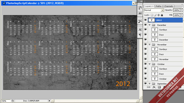 tutorial thiet ke photoshop tutorial calendar
