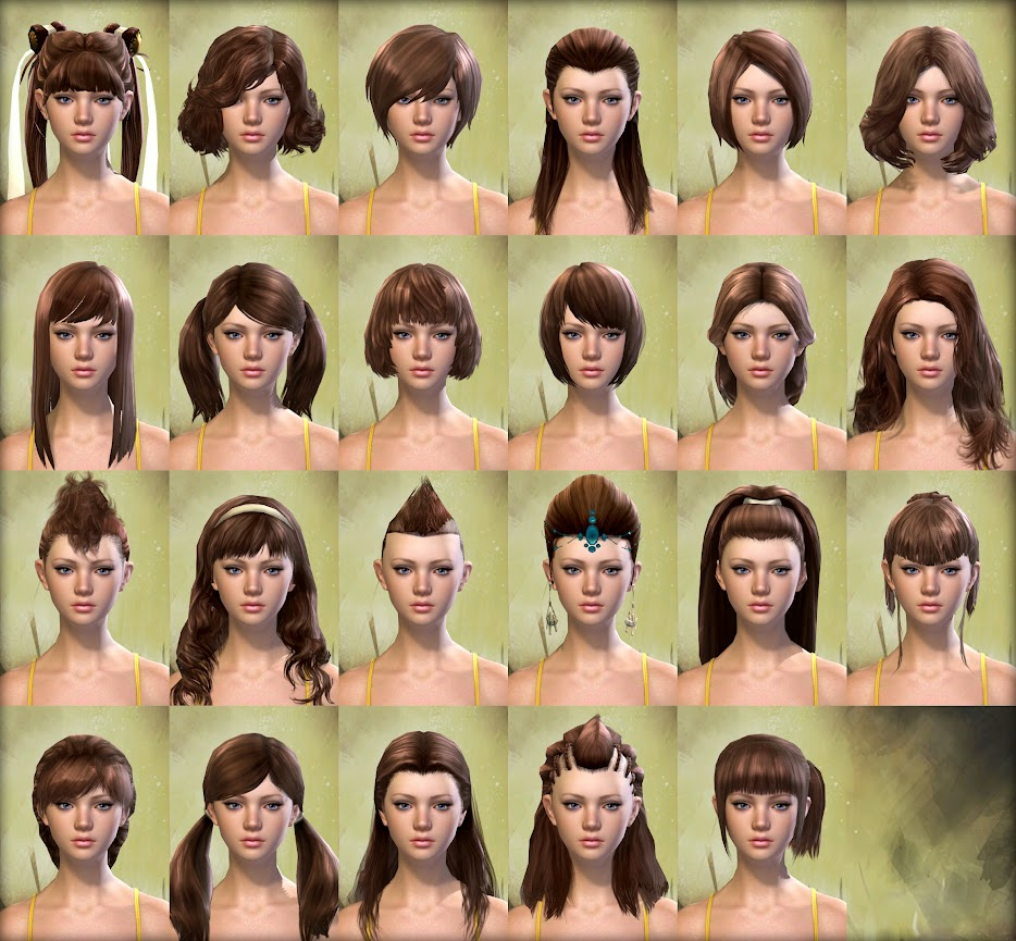 Guild Wars 2 Human Female Hair