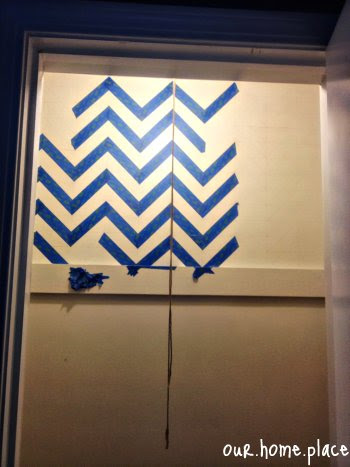 chevron wall paint taping