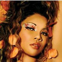 Maquiagem artística metálica